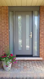 Door & 2 Custom Sidelites - Sandblasted