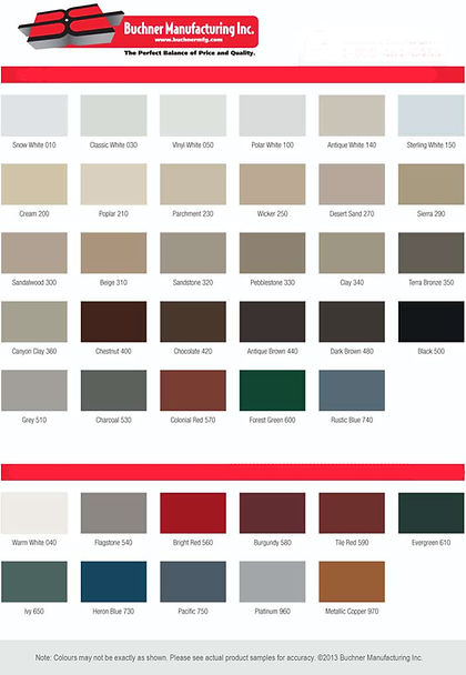 Buchner Door Colours