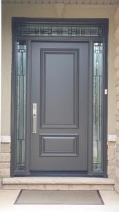 Door & 2 All Glass Sidelites with custom transom - Bistro