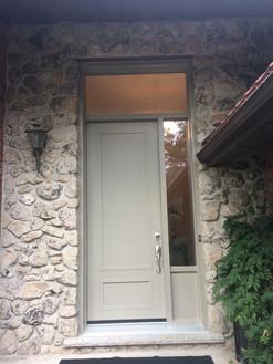Door & One Custom Sidelite Glass & Custom Kick Panel