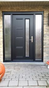 Door & 2 Custom Sidelites - Cast Glass