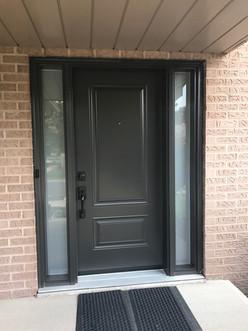 Door & 2 Custom All Glass Sidelites