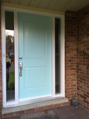 Door & 2 Custom Sidelites - Clear