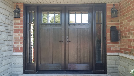 Double Door & 2 Sidelite - Clear Glass with SDLs