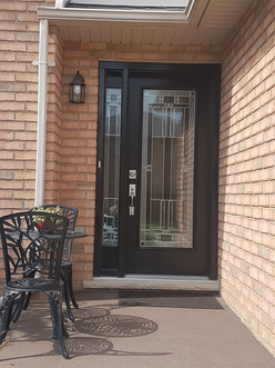 Door & 1 Direct Glazed 7x64 Sidelites with Kick Panels on top & bottom