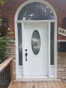 Door & 2 Direct Glazed 7x64 Sidelites with Kick Panels on bottom