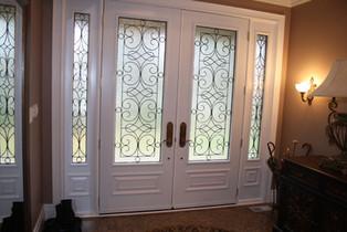 Double Door & 2 Sidelites - wrought iron