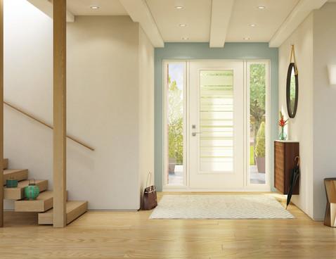 Door & 2 Sidelites - Azur & Clear