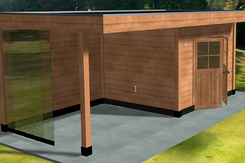 Wooden conservatory type 1