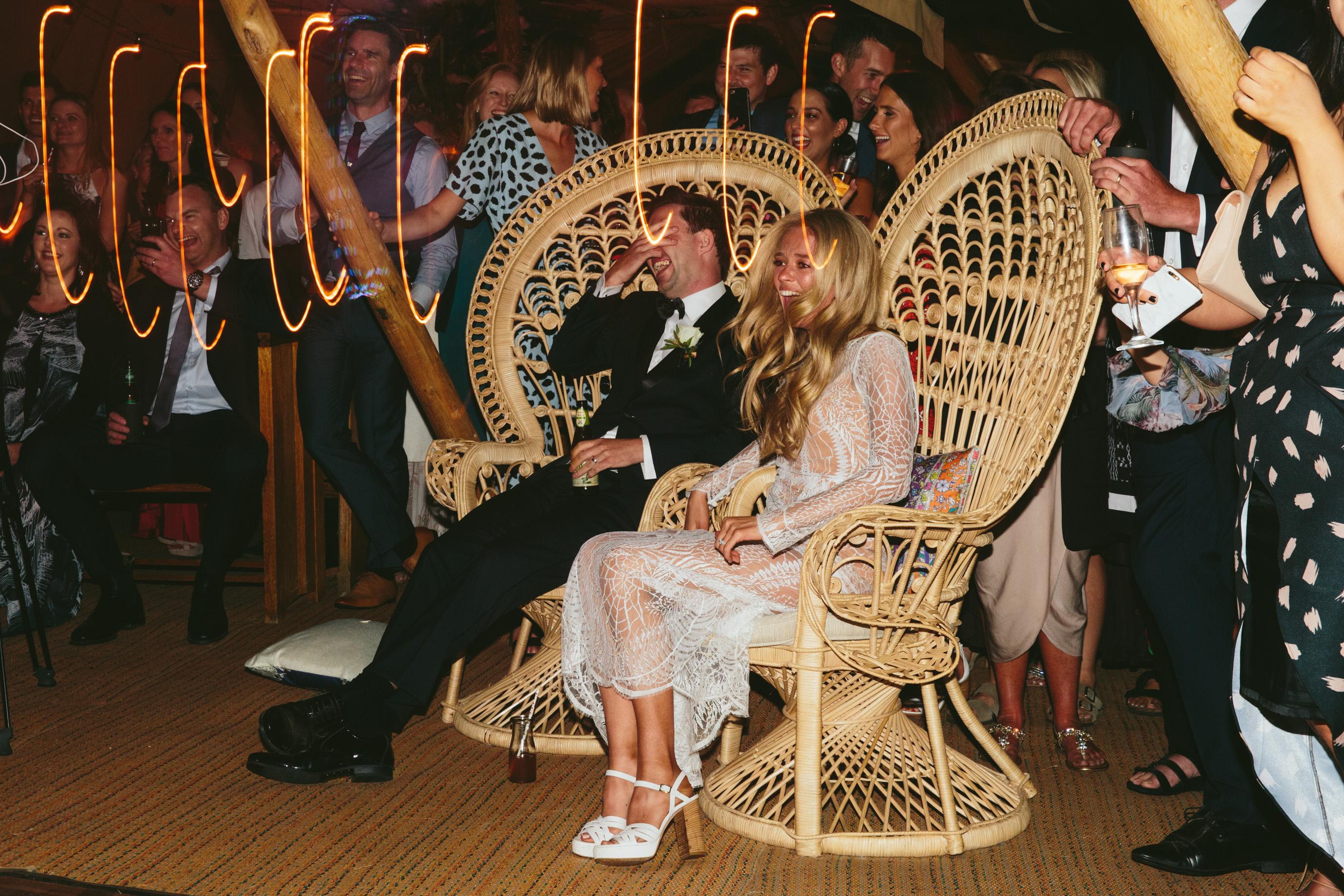 fairy light wedding gippsland