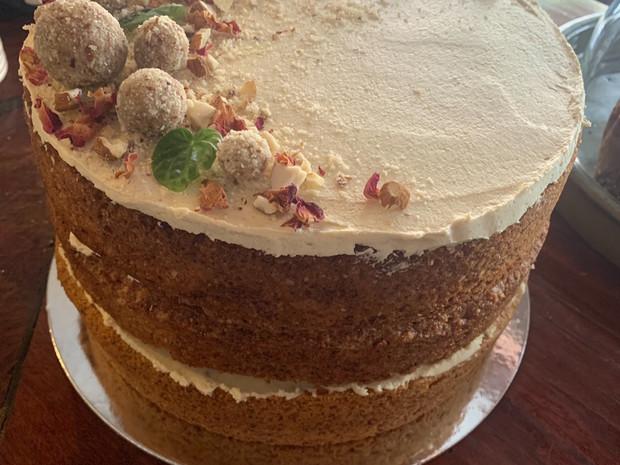 Hazelnut Vanilla Cake