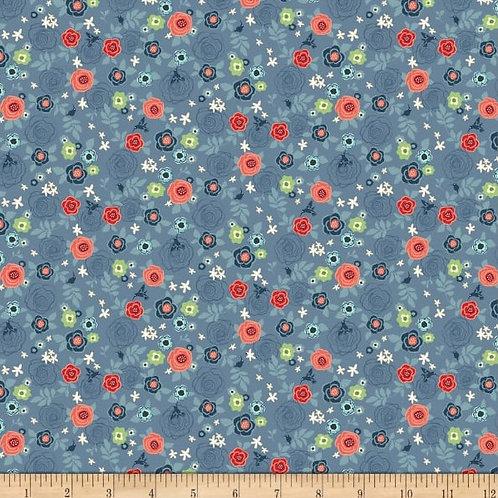 Hedge Rose - Blue Rose Garden - Riley Blake