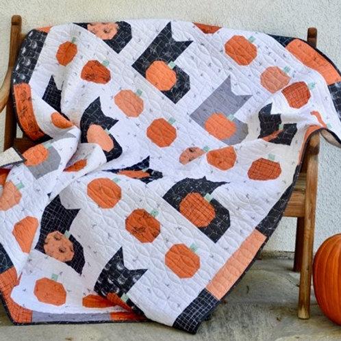 Pumpkins & Cats Quilt Pattern