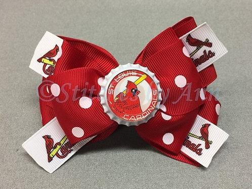 Bottle Cap Bow - STL Cardinals