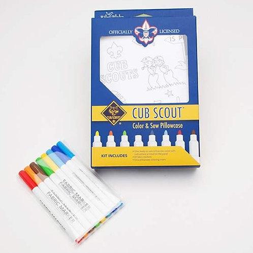 KIT - Color & Sew Pillowcase Kit - Cub Scouts