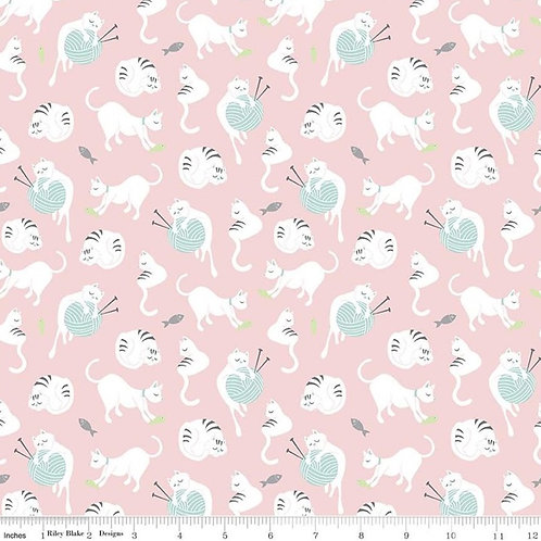Purrfect Day Yarn Pink - Riley Blake