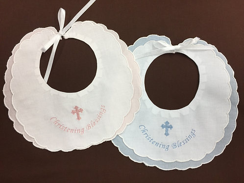 Christening Blessings Bib