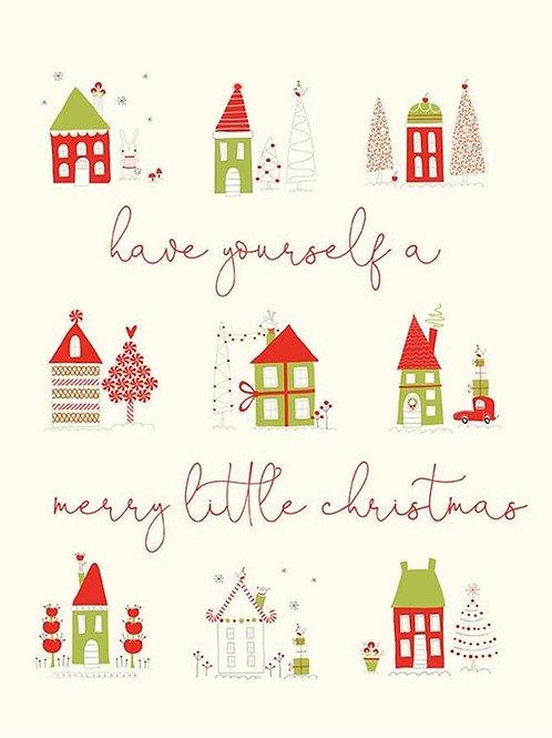 Merry Little Christmas - Cream PANEL