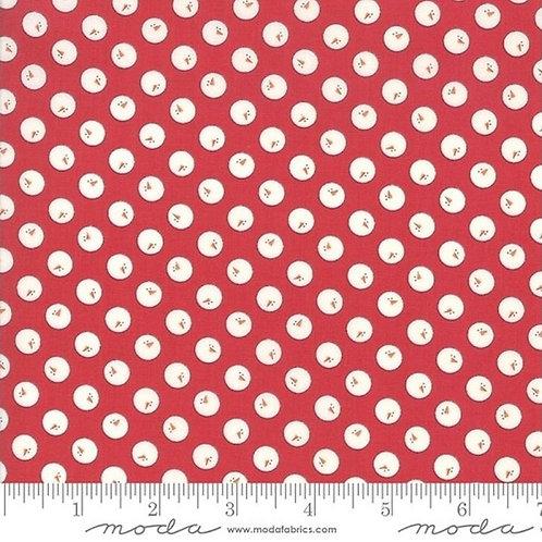Country Christmas - Snowball Cardinal Red - Moda Fabrics