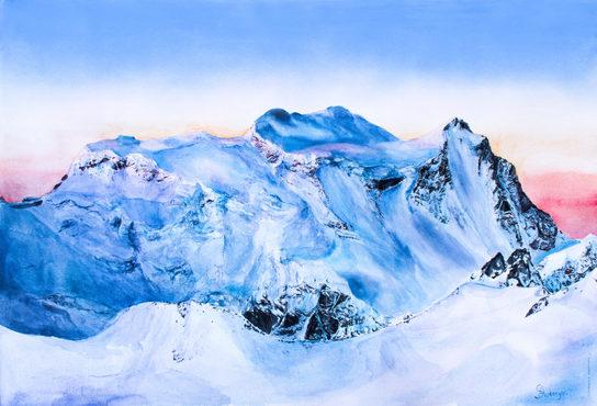 Grand Combin Alpenglow