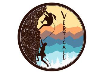Verticall logo version rond