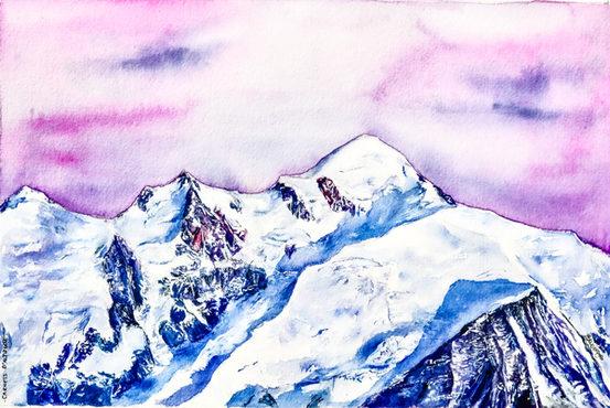 """Mont Blanc Alpenglow"""