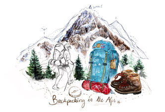 """""""Backpacking in the Alps"""""""
