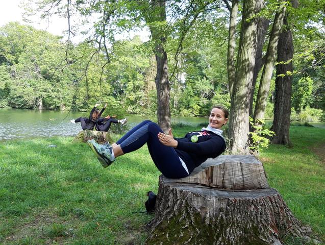 Yogaübung mit Sabine Stix