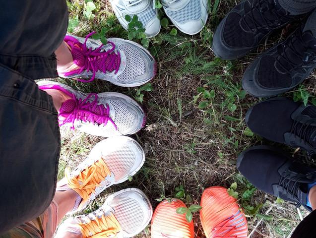 Schuhe vom Yogawalk in Wien