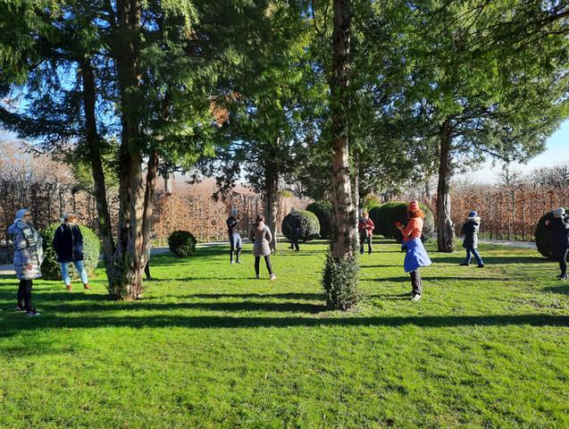 Yogawalk im Park in Wien mit Sabine Stix