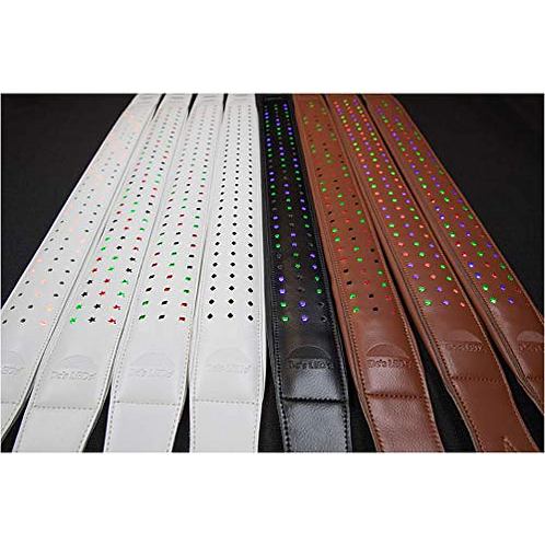 Sound Activated LED Leather Guitar/Bass Strap