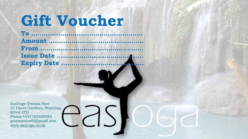 EasYoga Gift Voucher