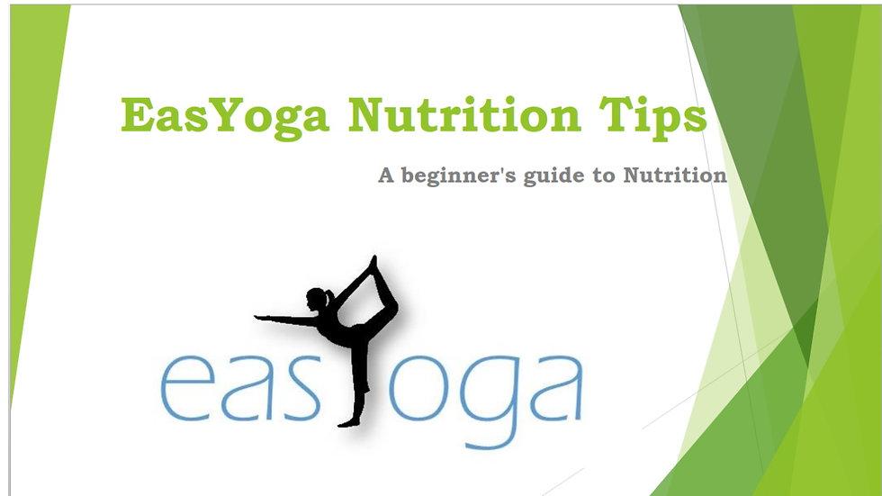 EasYoga Nutrition Guide