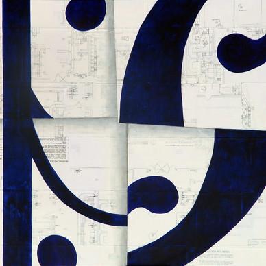 Eduadr script blue    SOLD