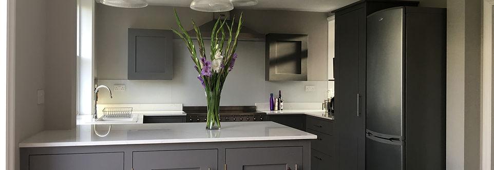 Beautiful grey kitchen