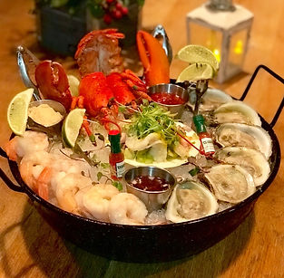 clambake, seafood, specials, live music, happy hour