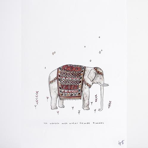 Print 'Elefant' DIN A3
