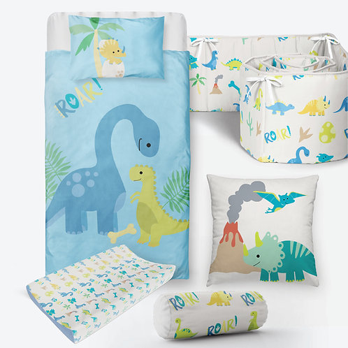 6 Piece Dino Baby Bedding
