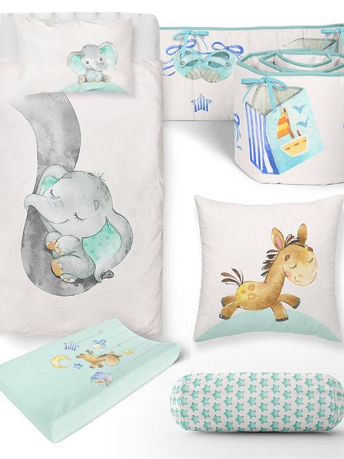 6 Piece Ele Baby Bedding