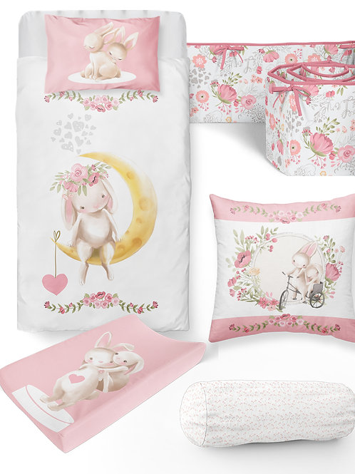 6 Piece Bunny Baby Bedding