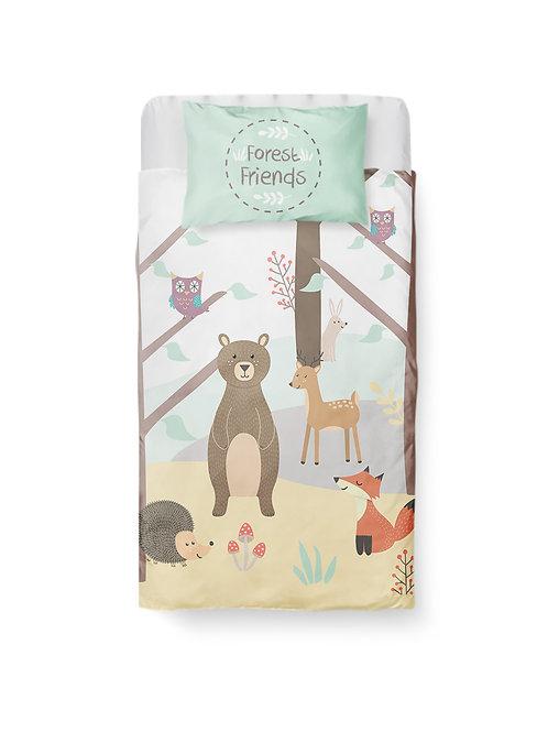 2 Piece Forest Friends Baby Bedding
