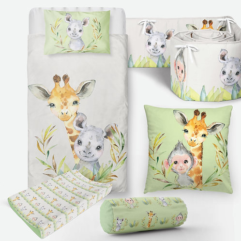 6 Piece Safari Baby Bedding