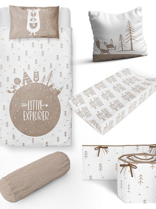 6 Piece Little Explorer Baby Bedding