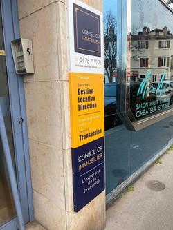 Signalétique extérieure Conseil Or Immo | Essens Constulting