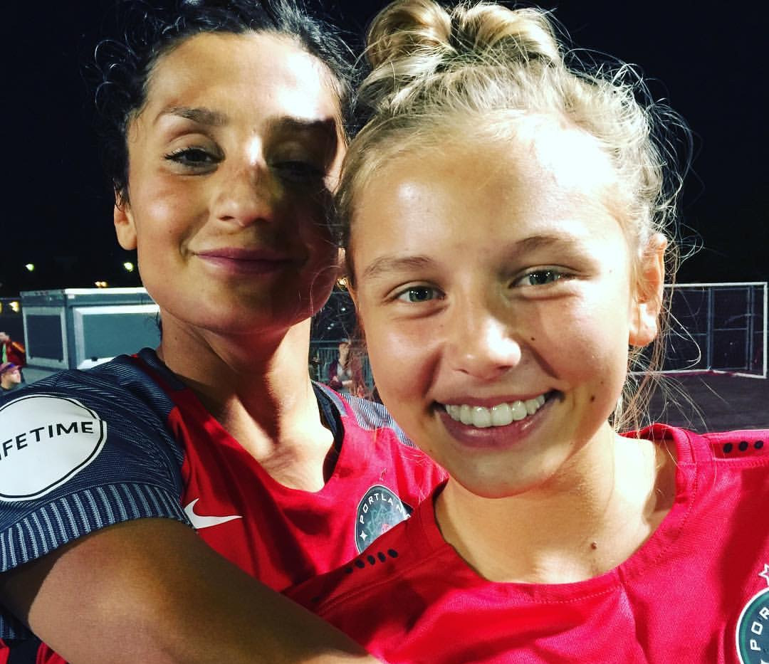 Liva with her friend and professional PSG player Nadia Nadim