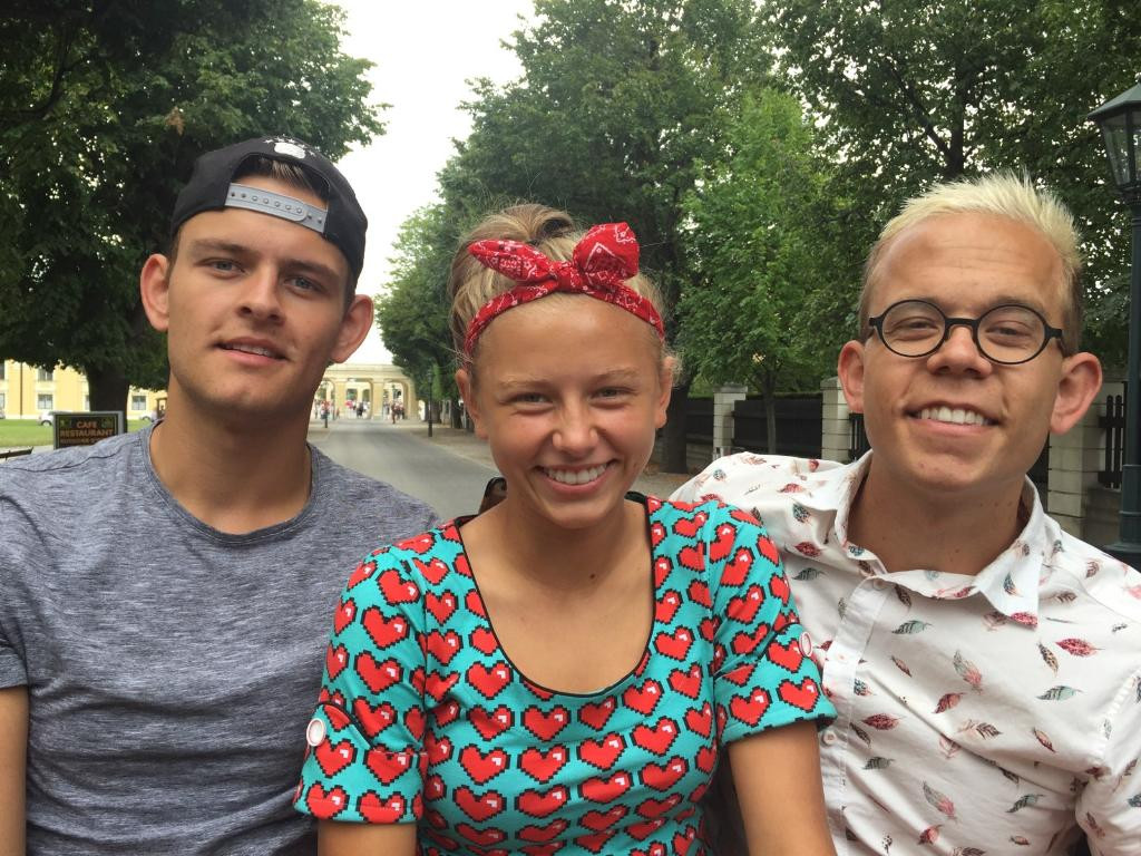 Liva with her two older brothers