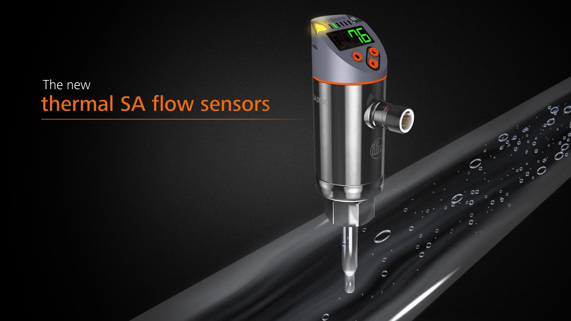 ifm SA = flow & temperature in one senso