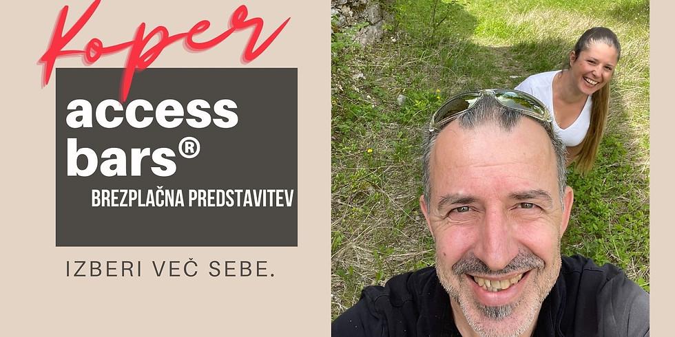 Koper: Predstavitev Access Bars® z Marušo in Boštjanom