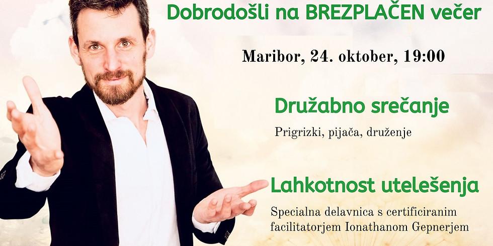 Maribor: 2,5 urna delavnica Lahkotnost utelešenja z Ionathan Gepner-jem