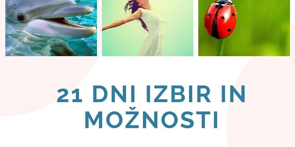 Online FB live: 21 dni izziva MOŽNOSTI in IZBIR z Marušo